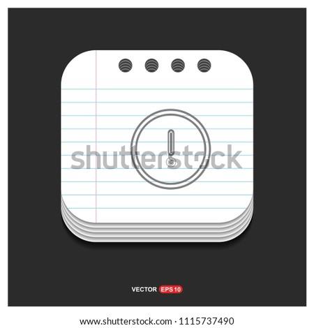 warning icon - Free vector icon #1115737490