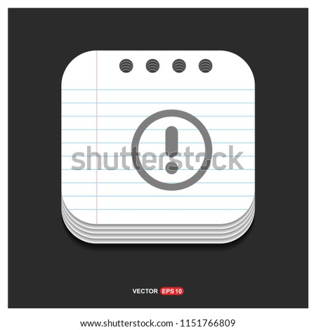 Warning Icon - Free vector icon #1151766809