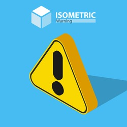 Warning icon. isometric