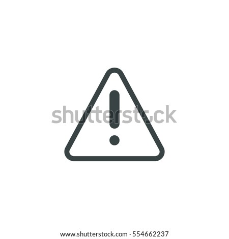 warning icon simple risk sign