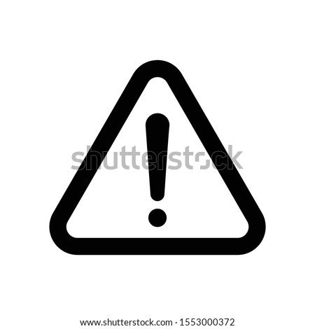 Warning icon. The attention icon. Danger symbol. Flat Vector illustration - Vector
