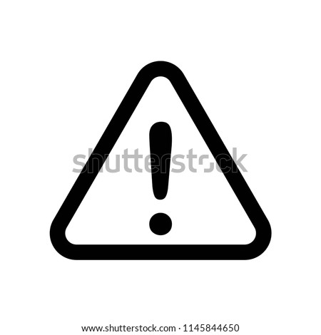 Warning icon vector icon. Simple element illustration. Warning symbol design. Can be used for web and mobile.