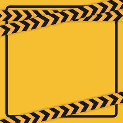 Warning or caution tape on yellow background. -  Vector.