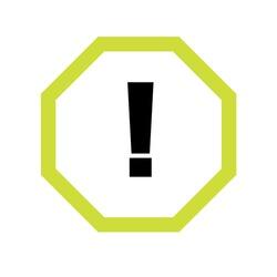 Warning outline vector icon. Prohibition sign. Restriction symbol. Flat simple line design illustration.