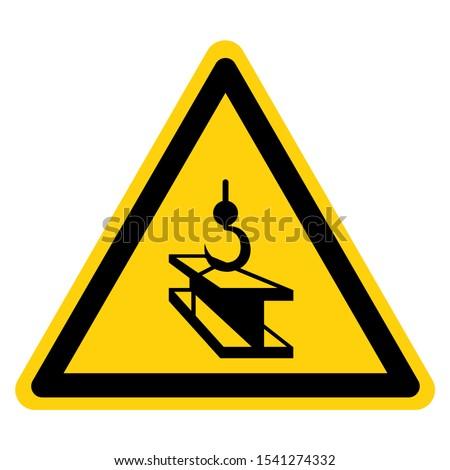 Warning Overhead Hoist Symbol Sign ,Vector Illustration, Isolate On White Background Label. EPS10
