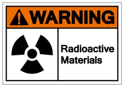 Warning Radioactive Materials Symbol Sign, Vector Illustration, Isolate On White Background Label. EPS10