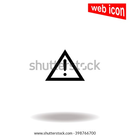 Warning road sign icon.