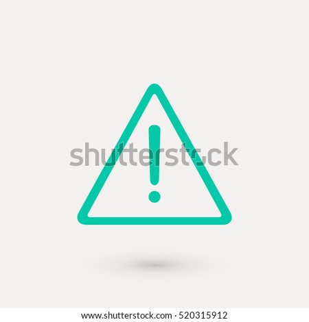 warning roadsign vector icon ...