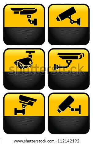 Warning set Sticker for Security Alarm CCTV Camera Surveillance