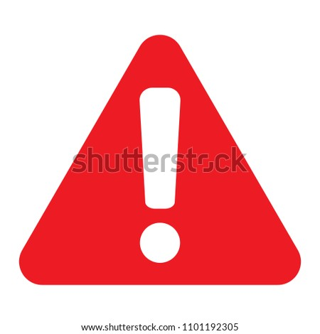 Warning sign, Attention icon, Vector #1101192305