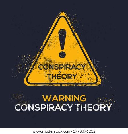 Warning sign (conspiracy theory), vector illustration. ストックフォト ©