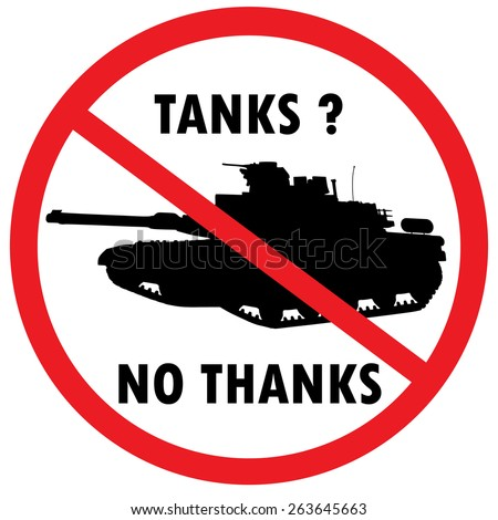 warning sign for military tanks