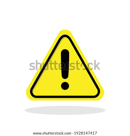 Warning sign icon in flat style. Attention symbol for your web site design, logo, app, UI Vector EPS 10.