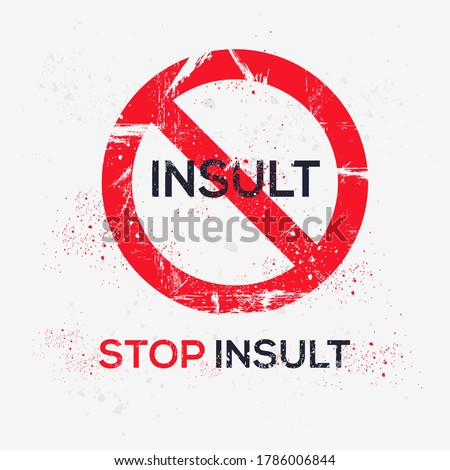 Warning sign (insult), vector illustration. Stock photo ©