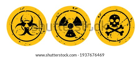warning sign on white background Сток-фото ©