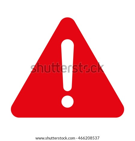 Warning sign, Red warning sign, Warning sign Icon, Warning sign on white, Warning sign vector, Warning sign illustration. Triangle warning sign