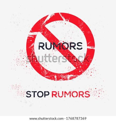 Warning sign (rumors), vector illustration. Photo stock ©
