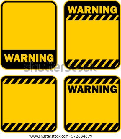warning, sign, vector