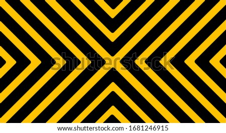 warning sign with black stripes