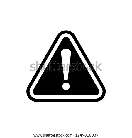 warning signage icon vector
