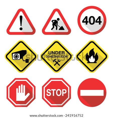 warning signs   danger  risk