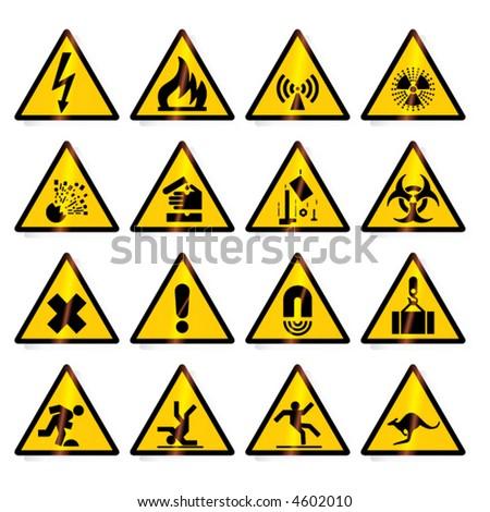warning signs (vector)