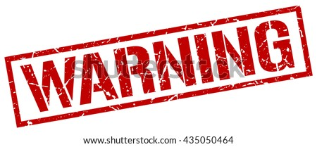 warning stampstampsign