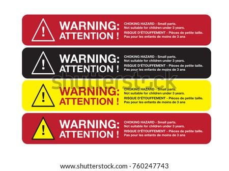 New Hazard Stickers Vectors - Download Free Vector Art, Stock Graphics  QE78