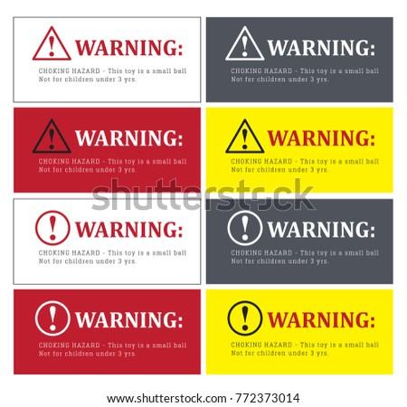 Top Hazard Stickers Vectors - Download Free Vector Art, Stock Graphics  DE57
