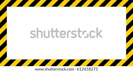 warning striped rectangular
