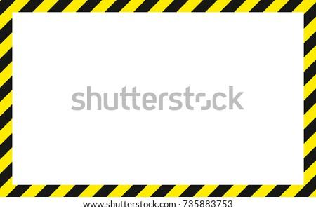 warning striped rectangular...