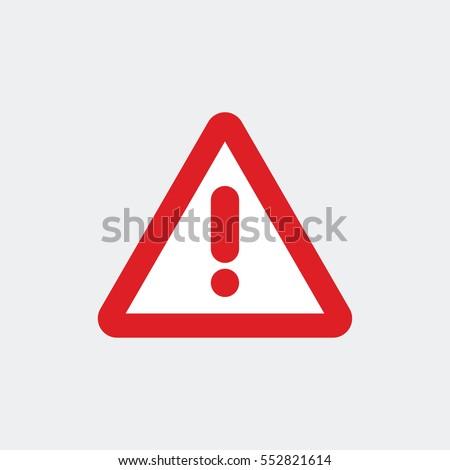 Warning symbol icon