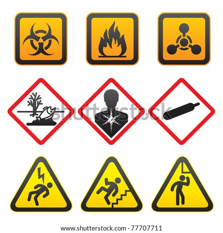 Warning symbols - Hazard Signs-Second