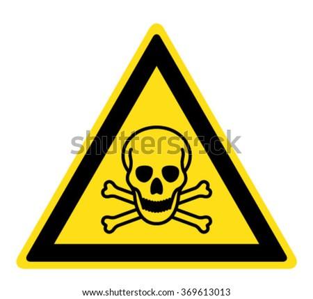 warning toxic material sign