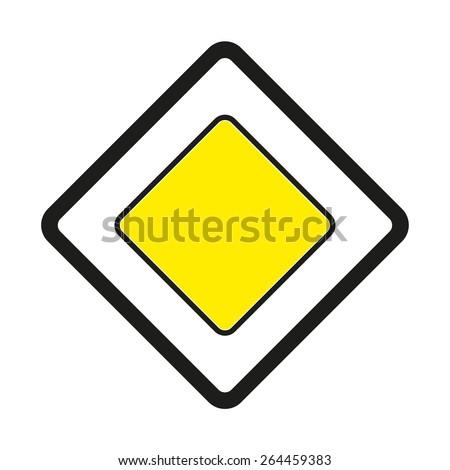 Warning traffic signs. Priority road ahead. #264459383