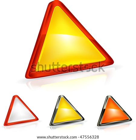 stock vector : Warning Triangle, mesh