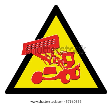 stock vector : Warning triangle - sign under construction, vector