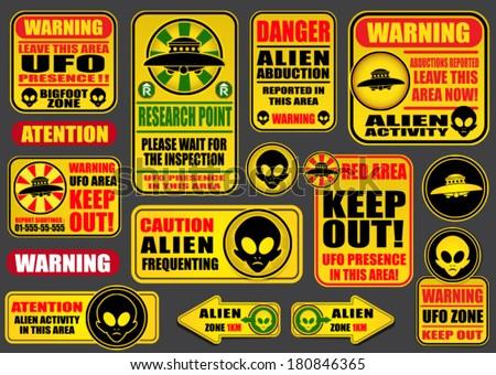 warning ufo aliens signs