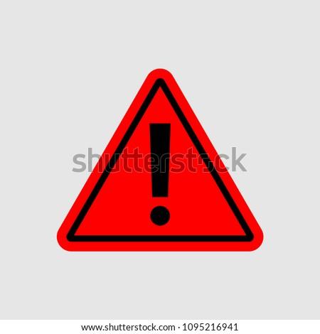 warning - vector icon. warning red sign