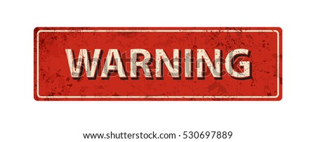 warning   vector illustration