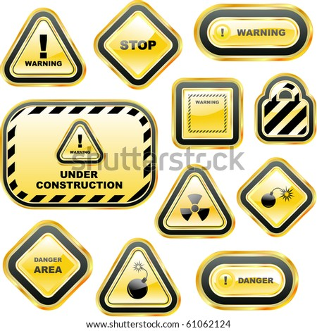 Warning vector label. Great collection.