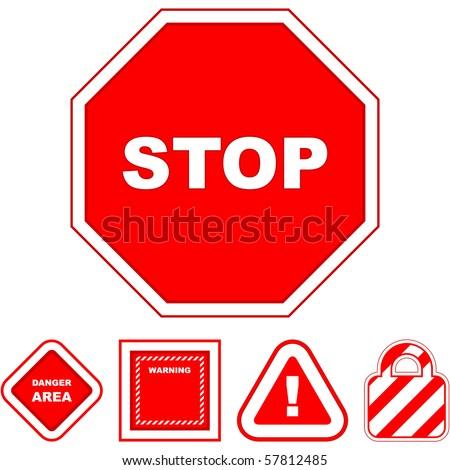 Warning vector sign. Vector template.