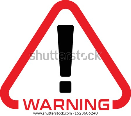 Warning, Warning sign Icon, Warning sign, illustration.sign,  Red warning