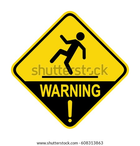 Warning wet floor sign, symbol, illustration