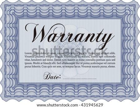 RoyaltyFree Warranty Template Vector Illustration