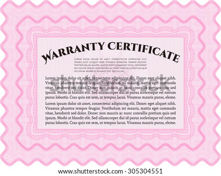 Warranty Certificate template. Very Customizable. Easy to print. Complex frame.