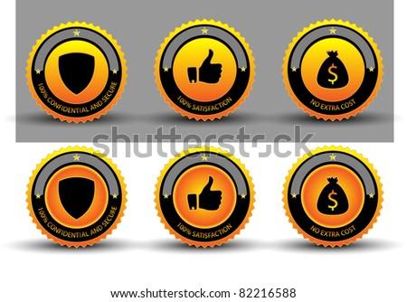 Warranty Guarantee Gold Seal.Vector