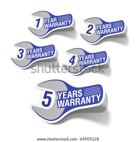 Warranty labels. Vector.