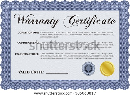 Warranty template. Customizable, Easy to edit and change colors. With background. Good design.