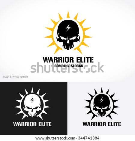 warrior elite logo skull logo